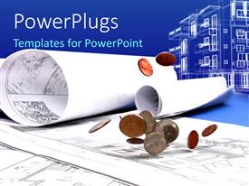 PowerPlugs: PowerPoint template with a umber of documents related to buildings