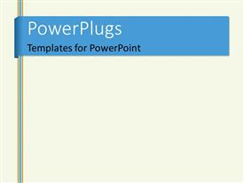 PowerPlugs: PowerPoint template with realistic white copybook with elastic band bookmark