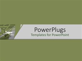 PowerPlugs: PowerPoint template with rear of jet plate on green background