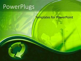 PowerPlugs: PowerPoint template with the recycle figure with globe in the background