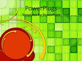 PowerPlugs: PowerPoint template with a red circle with green boxes in the background