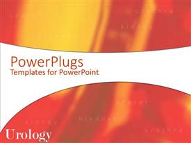 PowerPlugs: PowerPoint template with a red colored background with place for text in front