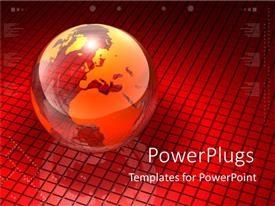 PowerPlugs: PowerPoint template with red globe world earth graphic charts big picture universe