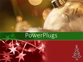 PowerPlugs: PowerPoint template with red and gold Christmas ornaments and stars