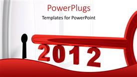 PowerPlugs: PowerPoint template with a red 3D text that spells out the '2012'