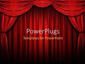 PowerPlugs: PowerPoint template with red stage curtain with arch entrance with selective lights and shadows
