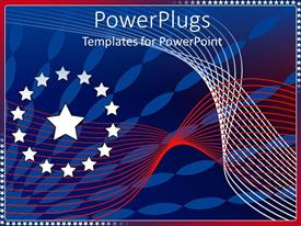 PowerPlugs: PowerPoint template with red, white, and blue abstract stars and stripes