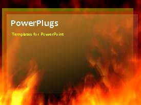 PowerPlugs: PowerPoint template with a red and yellowish background with a sentence
