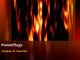 PowerPlugs: PowerPoint template with a reddish background with a bullet point