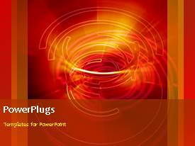 PowerPlugs: PowerPoint template with a reddish background with a number of words and spirals