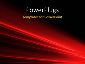 PowerPlugs: PowerPoint template with a reddish background with place for text