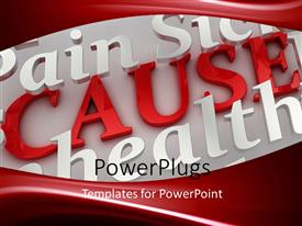 PowerPlugs: PowerPoint template with a reddish background with a place for text