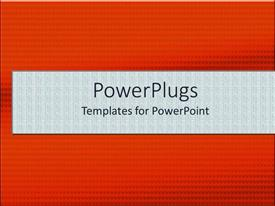 PowerPoint template displaying a reddish background with a place for text