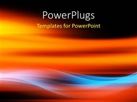 PowerPlugs: PowerPoint template with a reddish and bluish background with place for text