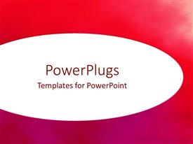 PowerPoint template displaying a reddish and purple background with place for text in middle