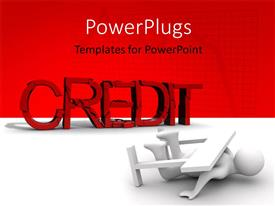 PowerPlugs: PowerPoint template with a reddish and white background with place for text