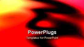 PowerPoint template displaying a reddish and yellowish background with movement - widescreen format