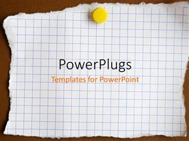 PowerPlugs: PowerPoint template with reminder note attached to the wall with a drawing pin