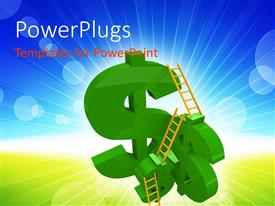 PowerPlugs: PowerPoint template with a number of dollar signs with ladders