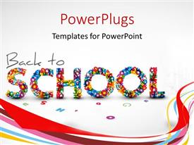PowerPlugs: PowerPoint template with a representation of back to school with white background