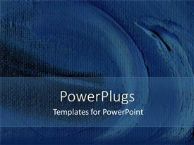 PowerPlugs: PowerPoint template with the representation of bluish color rug