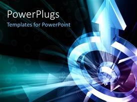 PowerPlugs: PowerPoint template with a representation of a circle with bluish background