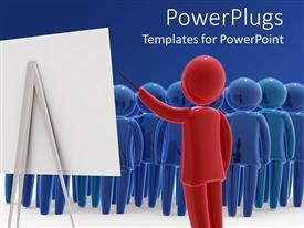 PowerPlugs: PowerPoint template with a representation of a classroom with a teacher teaching on white board