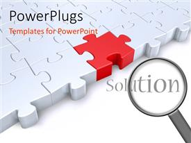 PowerPlugs: PowerPoint template with the representation of a complete jigsaw puzzle