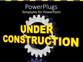 PowerPlugs: PowerPoint template with a representation of construction going on