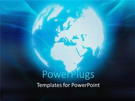 PowerPlugs: PowerPoint template with a representation of the Earth with dark background