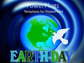 PowerPlugs: PowerPoint template with the representation of Earth and a dove for Earthday