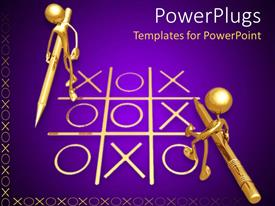 PowerPlugs: PowerPoint template with a representation of a game of tick tack toe