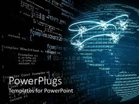 PowerPlugs: PowerPoint template with the representation of the globe with binary numbers
