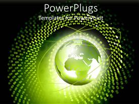 PowerPlugs: PowerPoint template with the representation of globe with various dots around it