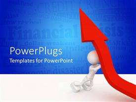 PowerPlugs: PowerPoint template with a representation of growt with the help of a figure