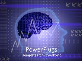 PowerPlugs: PowerPoint template with a representation of a human brain with financial background