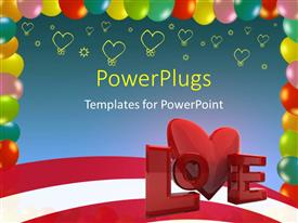 PowerPlugs: PowerPoint template with a representation of love with a number of hearts in the background