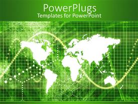 PowerPlugs: PowerPoint template with a representation of the map of the Earth with green background