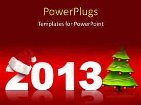 PowerPoint template displaying the representation the new year 2013