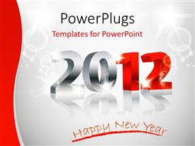 PowerPlugs: PowerPoint template with a representation of the new year with white background