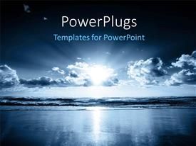 PowerPlugs: PowerPoint template with a representation of the ocean and the clouds