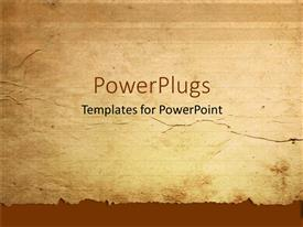 PowerPlugs: PowerPoint template with a representation of old paper with place for text