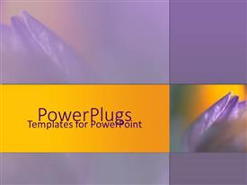 PowerPlugs: PowerPoint template with a representation of purple flowers with place for text