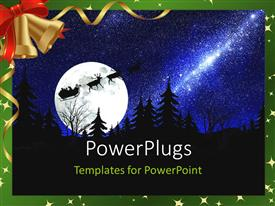 PowerPlugs: PowerPoint template with a representation of Santa travelling for Christmas