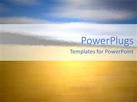 PowerPlugs: PowerPoint template with a representation of sea in yellow color