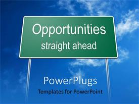 PowerPlugs: PowerPoint template with the representation of a sign with place for text