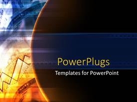 PowerPlugs: PowerPoint template with the representation of sun with a number of lines in the background
