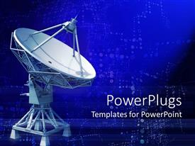 PowerPlugs: PowerPoint template with a representation of a telescope with digital background