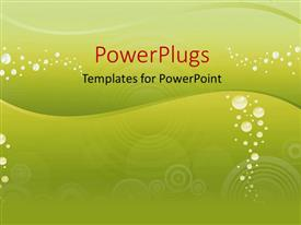 PowerPoint template displaying the representation of underwater feeling in the background