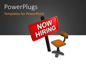 PowerPlugs: PowerPoint template with the representation of a vacancy with an empty seat